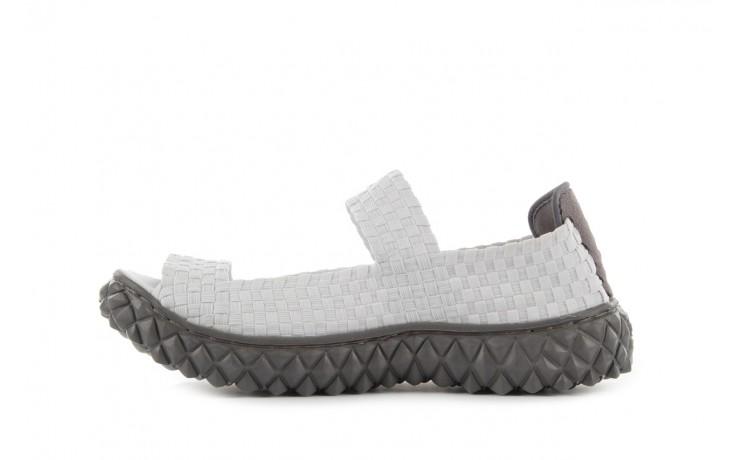 Sandały rock sandal 2 closed white, białe, materiał 2