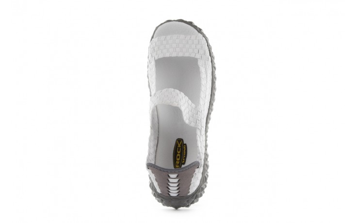 Sandały rock sandal 2 closed white, białe, materiał 4