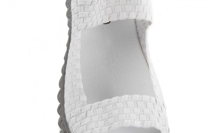 Sandały rock sandal 2 closed white, białe, materiał 6
