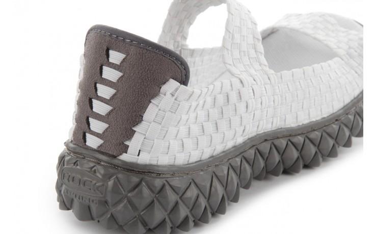 Sandały rock sandal 2 closed white, białe, materiał 7