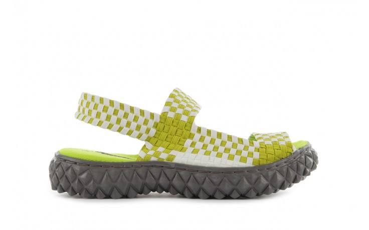 Sadały rock sandal 2 green-white, zielony/ biały, materiał - rock - nasze marki