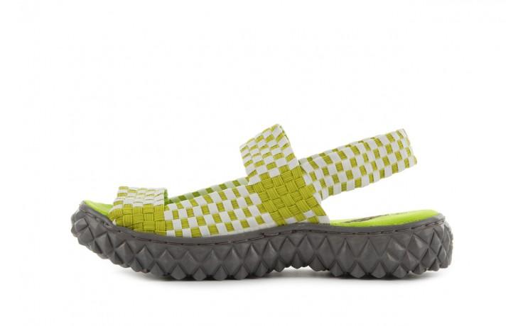 Sadały rock sandal 2 green-white, zielony/ biały, materiał - rock - nasze marki 2