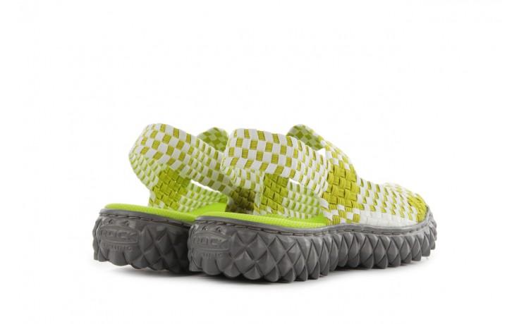 Sadały rock sandal 2 green-white, zielony/ biały, materiał - rock - nasze marki 3