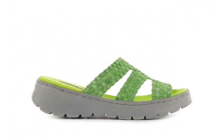 Sandały rock santa barbara green washed, zielony, materiał - rock - nasze marki