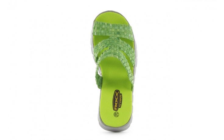 Sandały rock santa barbara green washed, zielony, materiał - rock - nasze marki 4