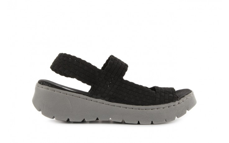 Sandały rock santa clara black, czarny, materiał - rock - nasze marki
