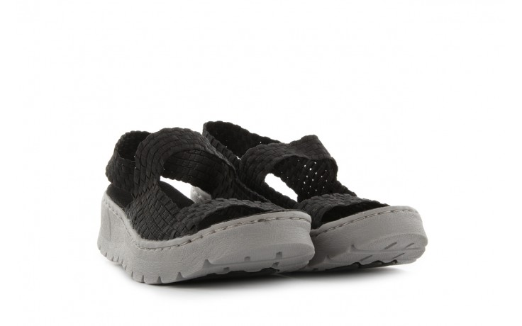 Sandały rock santa clara black, czarny, materiał - rock - nasze marki 1