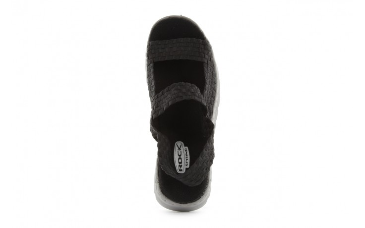 Sandały rock santa clara black, czarny, materiał - rock - nasze marki 4
