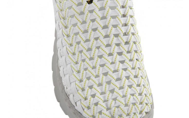 Półbuty rock santa maria white-white-green, biały/ szary, materiał - rock - nasze marki 5