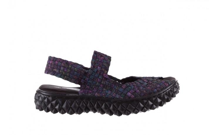 Sandały rock sofia galaxy 20, fioletowy, materiał - płaskie - sandały - buty damskie - kobieta