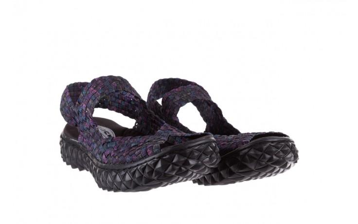 Sandały rock sofia galaxy 20, fioletowy, materiał - płaskie - sandały - buty damskie - kobieta 1