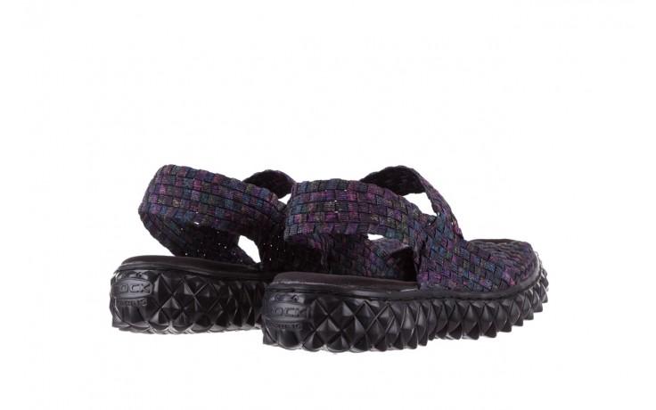 Sandały rock sofia galaxy 20, fioletowy, materiał - płaskie - sandały - buty damskie - kobieta 3
