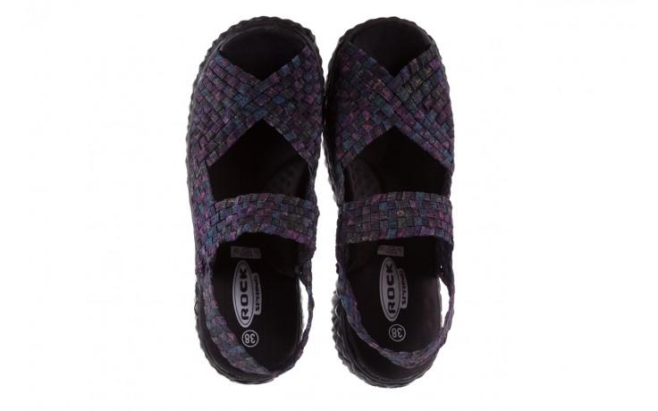 Sandały rock sofia galaxy 20, fioletowy, materiał - płaskie - sandały - buty damskie - kobieta 4