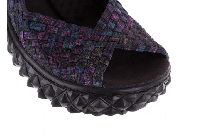 Sandały rock sofia galaxy 20, fioletowy, materiał - płaskie - sandały - buty damskie - kobieta 5