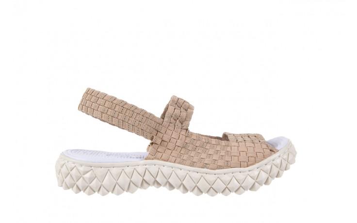 Sandały rock tropicana beige silver, beż, materiał - rock - nasze marki