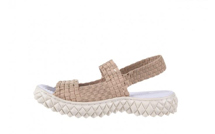 Sandały rock tropicana beige silver, beż, materiał - rock - nasze marki 2