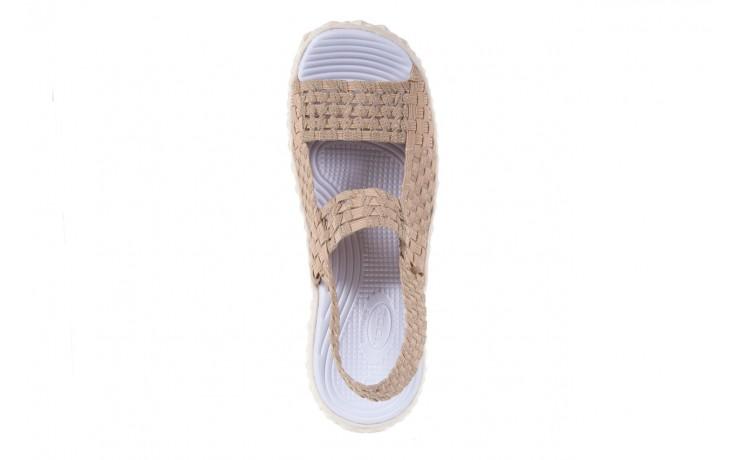 Sandały rock tropicana beige silver, beż, materiał - rock - nasze marki 4