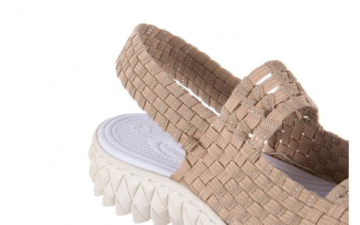 Sandały rock tropicana beige silver, beż, materiał - rock - nasze marki 5