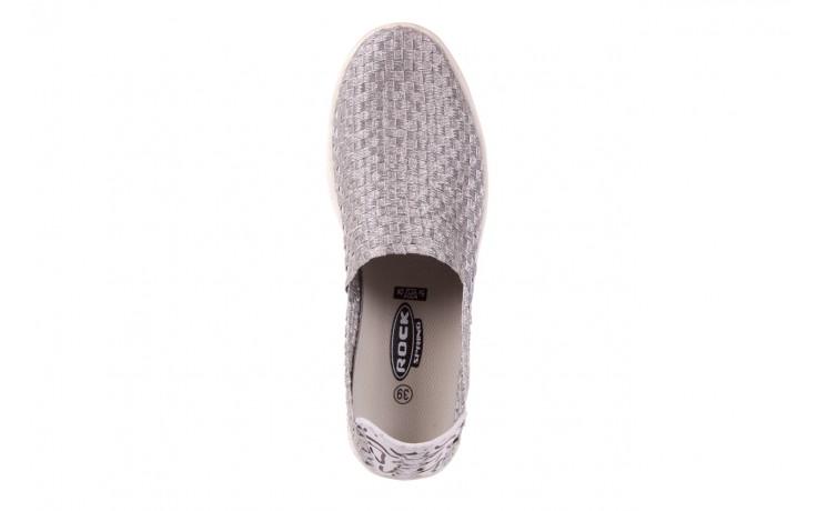 Trampki rock warhol silver, srebro, materiał - slip on / wsuwane - trampki - buty damskie - kobieta 4