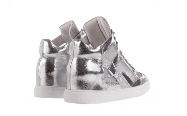 Sneakersy sca'viola 1208-1 silver, srebro, skóra naturalna  - sca`viola - nasze marki 3