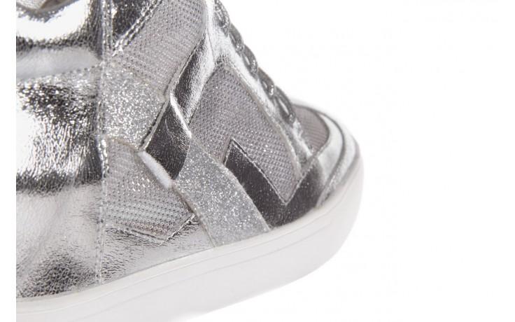 Sneakersy sca'viola 1208-1 silver, srebro, skóra naturalna  - sca`viola - nasze marki 5