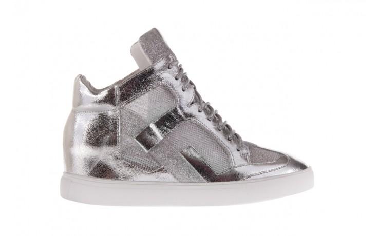 Sneakersy sca'viola 1208-1 silver, srebro, skóra naturalna  - sca`viola - nasze marki