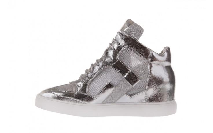 Sneakersy sca'viola 1208-1 silver, srebro, skóra naturalna  - sca`viola - nasze marki 2