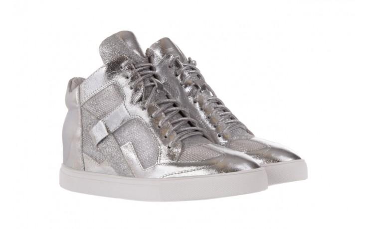 Sneakersy sca'viola 1208-1 silver, srebro, skóra naturalna  - sca`viola - nasze marki 1