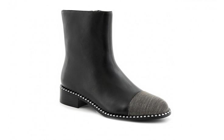 Botki sca'viola f-93 black, czarny, skóra naturalna  - worker boots - trendy - kobieta 1