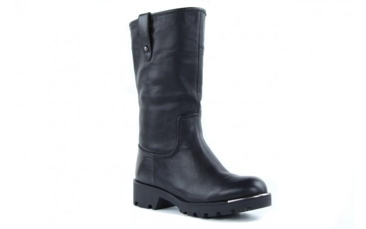 Kozaki sca'viola 6ia70 black, czarny, skóra naturalna  - płaskie - kozaki - buty damskie - kobieta 4