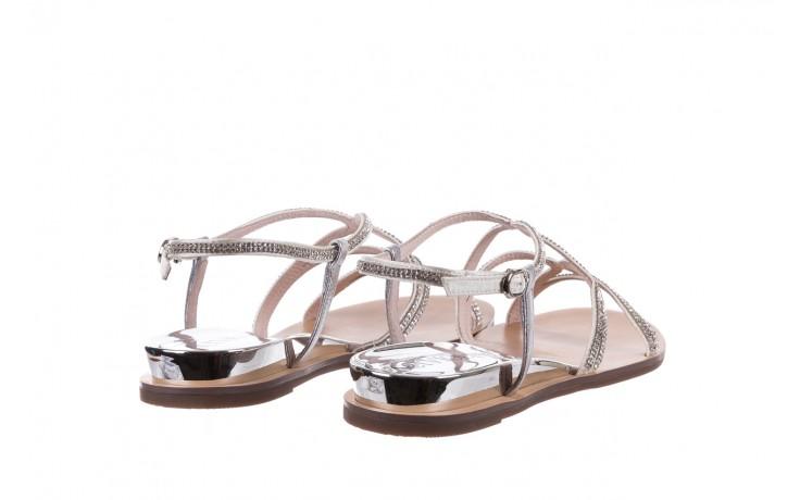 Sandały sca'viola b-43 silver, srebrne, skóra naturalna  - sca`viola - nasze marki 5