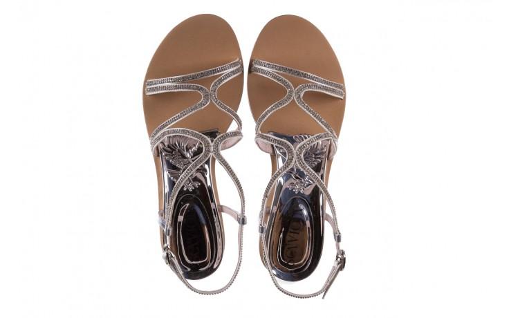 Sandały sca'viola b-43 silver, srebrne, skóra naturalna  - sca`viola - nasze marki 6