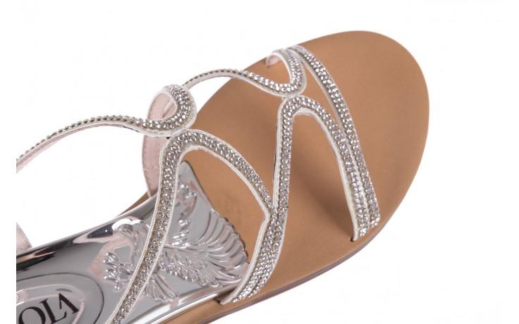 Sandały sca'viola b-43 silver, srebrne, skóra naturalna  - sca`viola - nasze marki 8