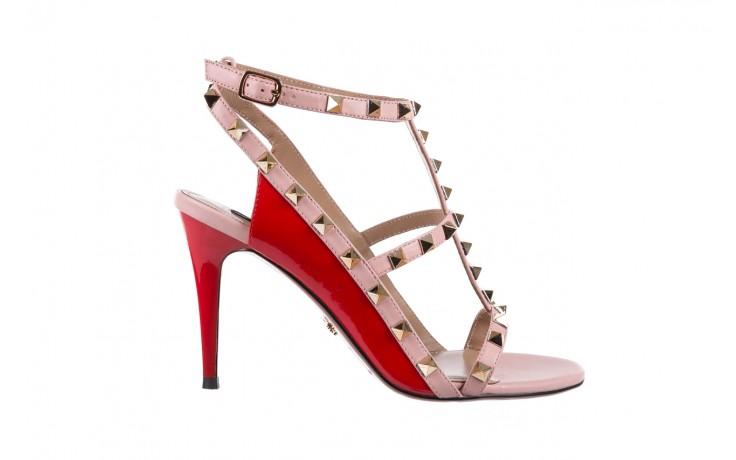 Sandały sca'viola f-55 red, róż/czerwony, skóra naturalna  - sca`viola - nasze marki