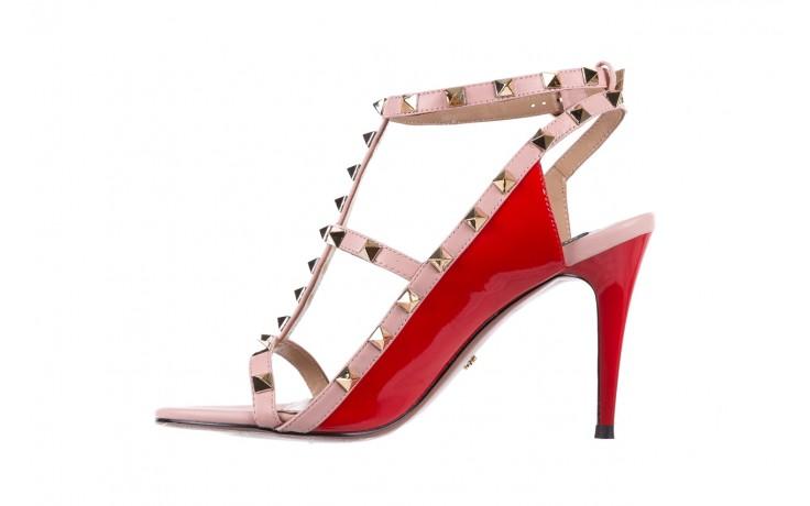 Sandały sca'viola f-55 red, róż/czerwony, skóra naturalna  - sca`viola - nasze marki 3