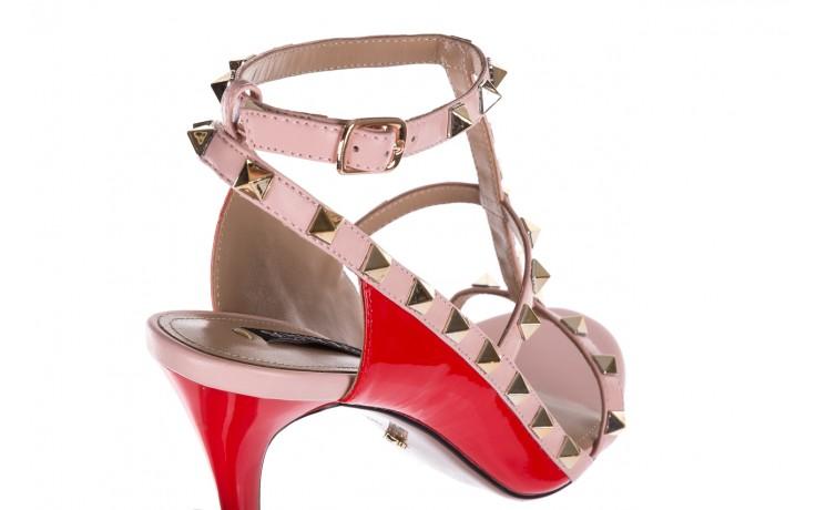 Sandały sca'viola f-55 red, róż/czerwony, skóra naturalna  - sca`viola - nasze marki 6
