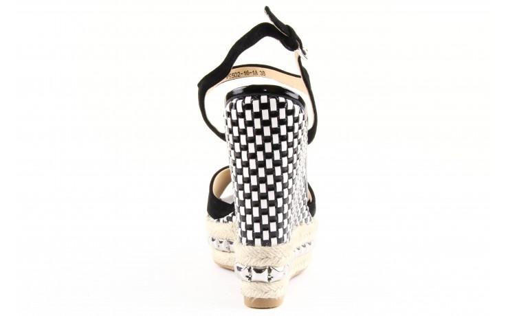 Sandały sca'viola ps502-16-1a black, czarny, skóra naturalna  - sca`viola - nasze marki 2