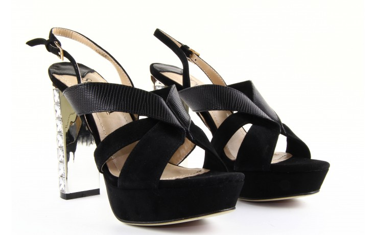Sandały sca'viola ps509-1-1n black, czarny, skóra naturalna  - sca`viola - nasze marki 6