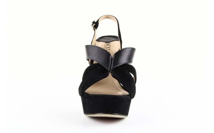 Sandały sca'viola ps509-1-1n black, czarny, skóra naturalna  - sca`viola - nasze marki