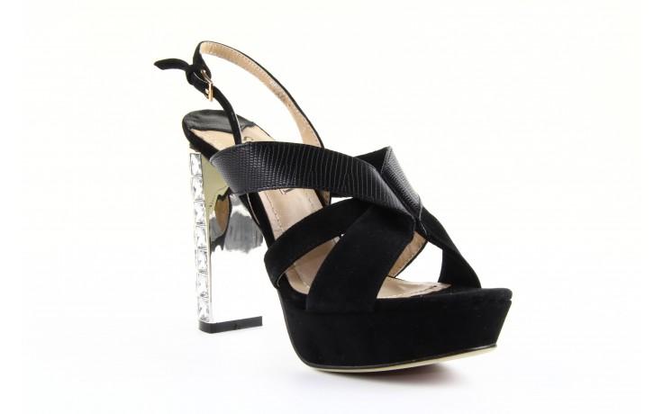 Sandały sca'viola ps509-1-1n black, czarny, skóra naturalna  - sca`viola - nasze marki 1