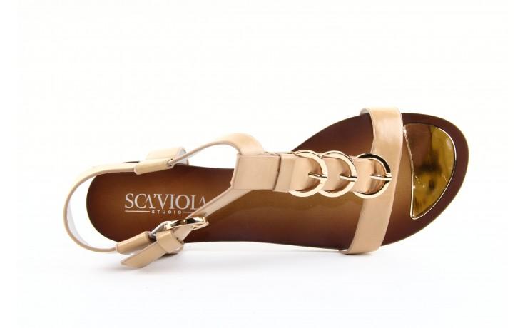 Sandały sca'viola ym13219-a13-2 brown, brąz, skóra naturalna  - sca`viola - nasze marki 5