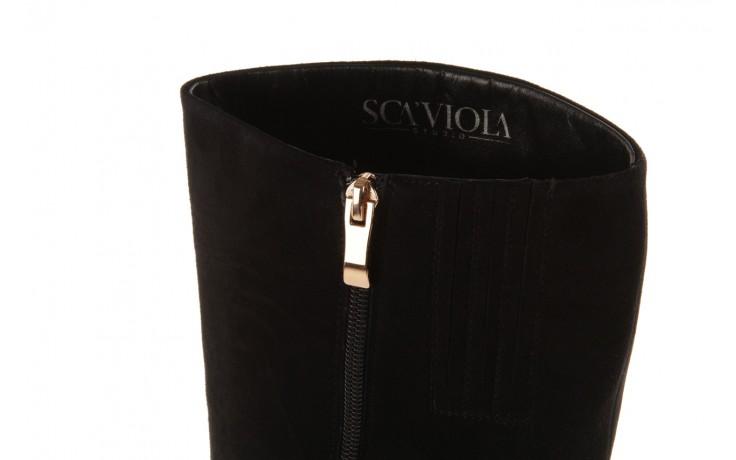 Kozaki sca'viola w3300t-2152r black suede, czarny, skóra naturalna - sca`viola - nasze marki 6