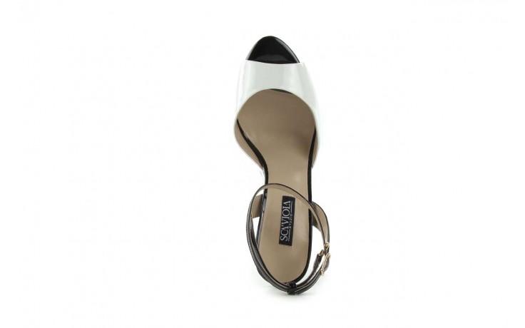 Sandały sca'viola w3223l-621 white black, biały, skóra naturalna - sca`viola - nasze marki 3