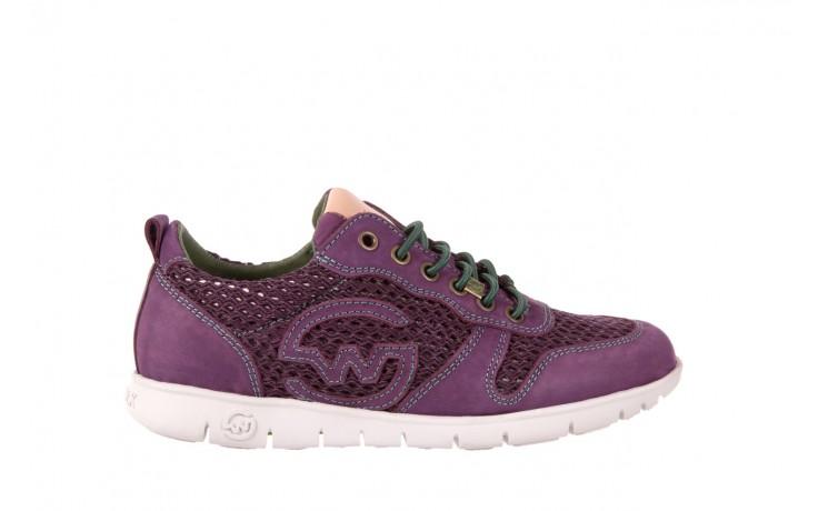 Trampki slowwalk 10162w crash purple, fiolet, skóra naturalna