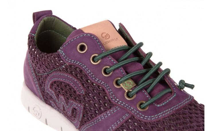 Trampki slowwalk 10162w crash purple, fiolet, skóra naturalna 5