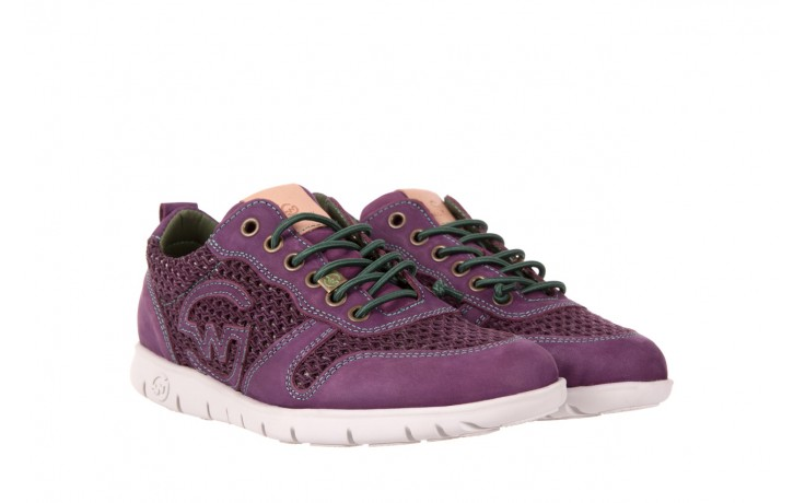 Trampki slowwalk 10162w crash purple, fiolet, skóra naturalna 1