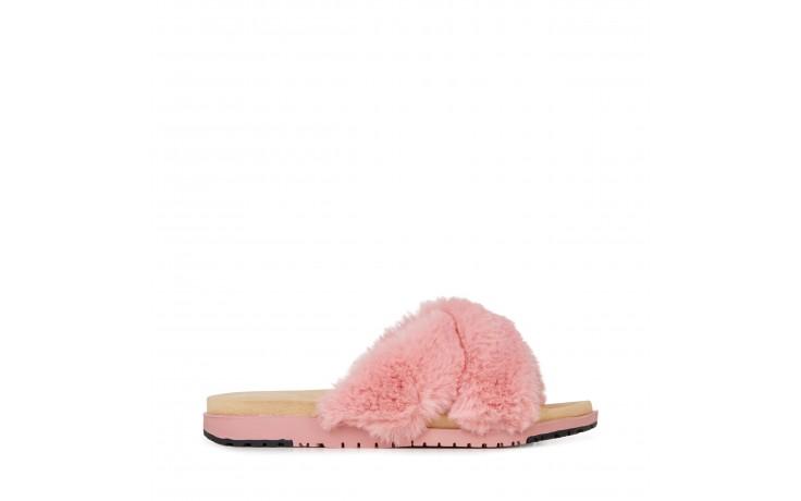 Klapki emu mareeba dusty pink, róż, futro naturalne - emu - nasze marki