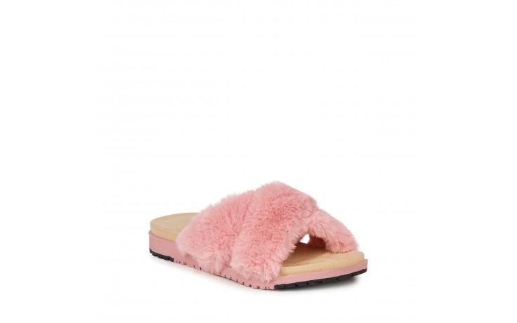 Klapki emu mareeba dusty pink, róż, futro naturalne - emu - nasze marki 1