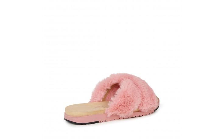 Klapki emu mareeba dusty pink, róż, futro naturalne - emu - nasze marki 3