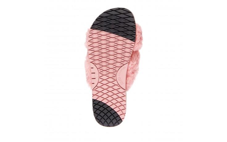 Klapki emu mareeba dusty pink, róż, futro naturalne - emu - nasze marki 5